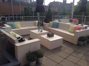 Loungebank nieuw steigerhout