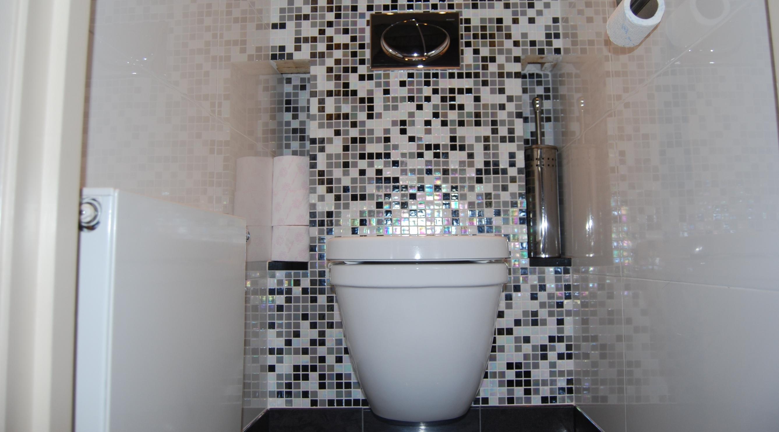 Badkamer toilet keuken verbouwen metsel en tegelbedr m lankreijer - Wc mozaiek ...