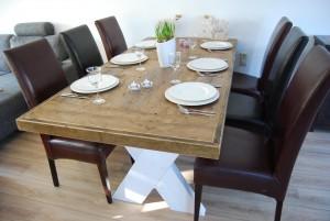 tafel steigerhout white wash kruispoot