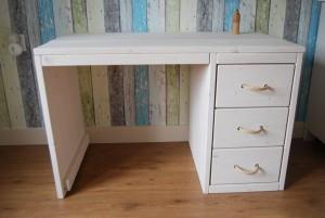 Bureau nieuw steigerhout white wash