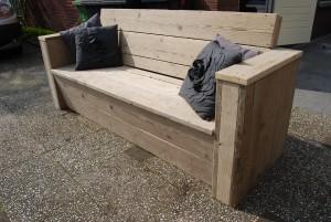 Loungebank gebruikt steigerhout