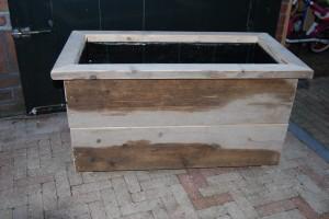 Plantenbak gebruikt / oud steigerhout