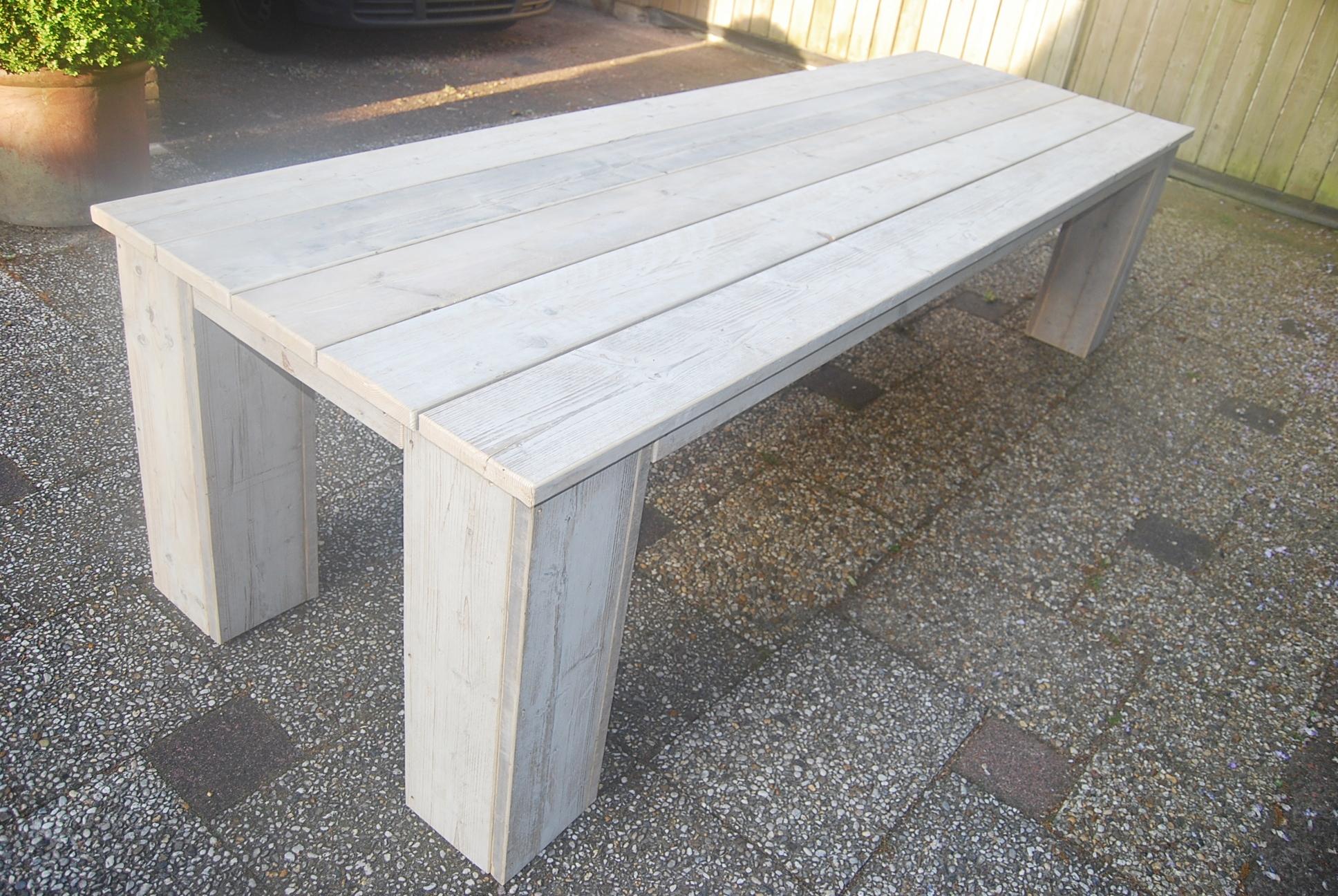Eettafels tuintafels steigerhout bouw en for Stijgerhout tafel