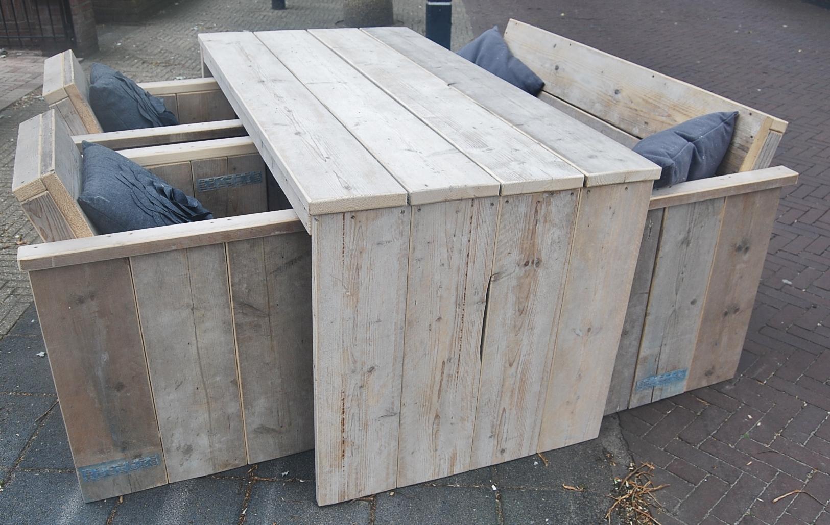 Steigerhouten tuin meubelen voor binnen en buiten op maat for Steigerhout tuinset