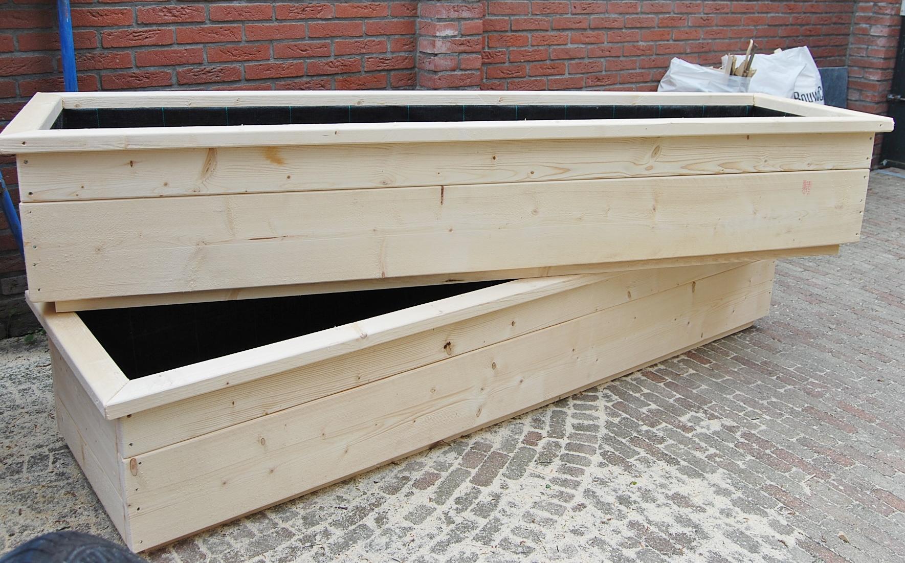 Plantenbak steigerhout zelf maken