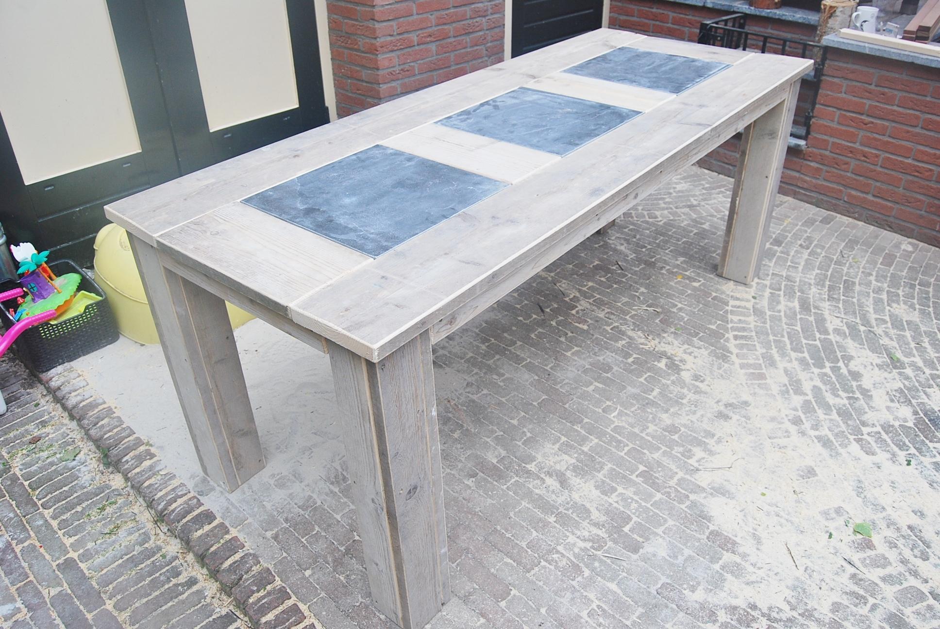 Tafels en tuintafels steigerhout alle maten en modellen for Zelf tuintafel maken van steigerhout