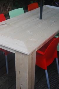 Tafel steigerhout verstek normale poot