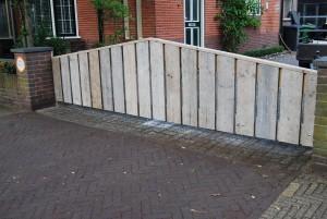 Tuinhek poort steigerhout