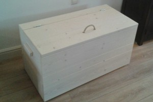 speelgoedkist dekenkist steigerhout white wash