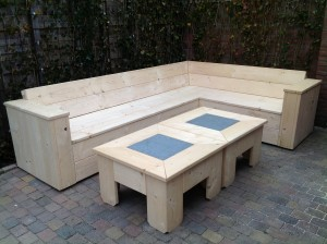 Lounge(hoek)bank steigerhout