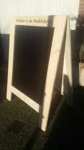 Krijtbord of schoolbord steigerhout