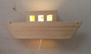 Wandlamp boot steigerhout