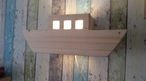 wandlamp steigerhout boot