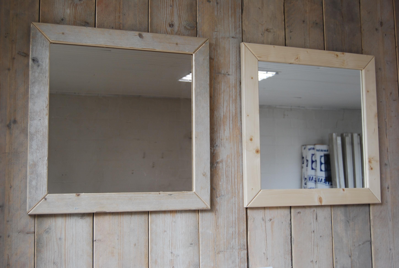 White Wash Spiegel : Spiegel steigerhout bouw en onderhoudsbedrijf m. lankreijer