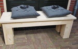 Tuinbankje steigerhout zonder leuning
