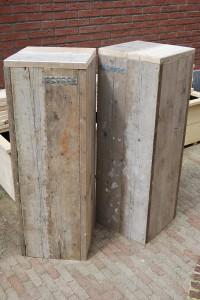 Zuil, pilaar, sokkel steigerhout