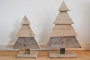kerstboom gebruikt steigerhout