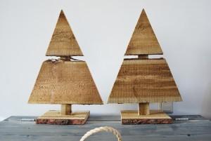 Kerstboompje boomschors hout