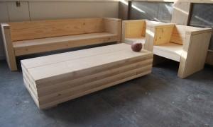 loungebank en loungestoel steigerhout kinderen