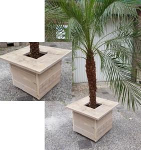 Plantenbak gebruikt steigerhout