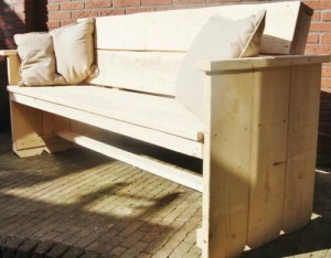 Tuinbank nieuw steigerhout